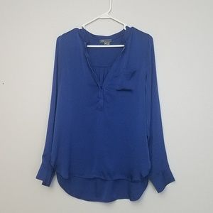 Vince blue silk blouse
